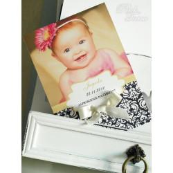 BABY ZYG ZAG- Zaproszenia dla dzieci chrzest urodziny LIMONKA