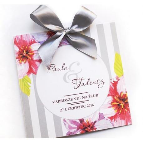 Zaproszenie ślubne Kwiatove