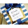 Zaproszenie ślubne Pastelove Retro KWADRATOWE BLUE PINK