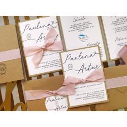 Zaproszenia Ślubne Limitowane - 3 karty