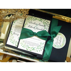 Zaproszenia Ślubne English Green