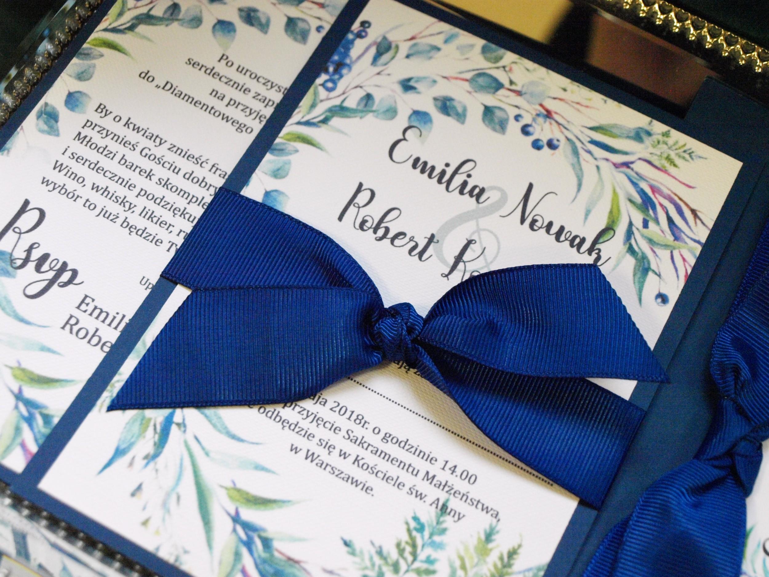 Zaproszenia ślubne English Leaves