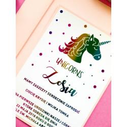 Zaproszenia Unicorns