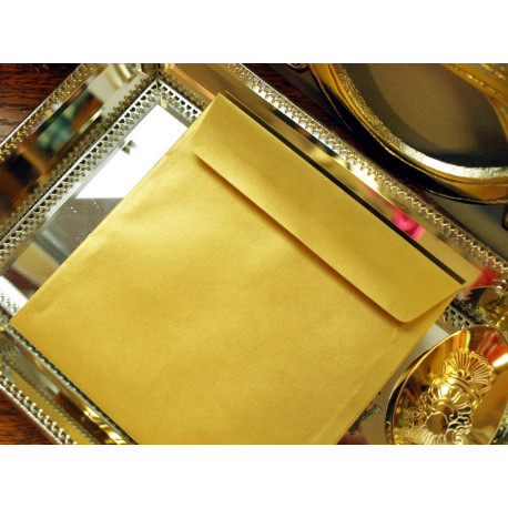 Koperta kwadratowa złota - GOLDEN PEARL