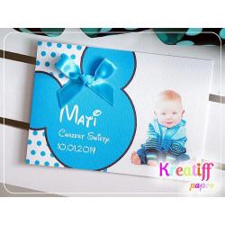 MICKEY - Zaproszenia dla dzieci chrzest urodziny