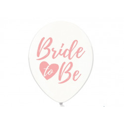 Biały balon bride to be