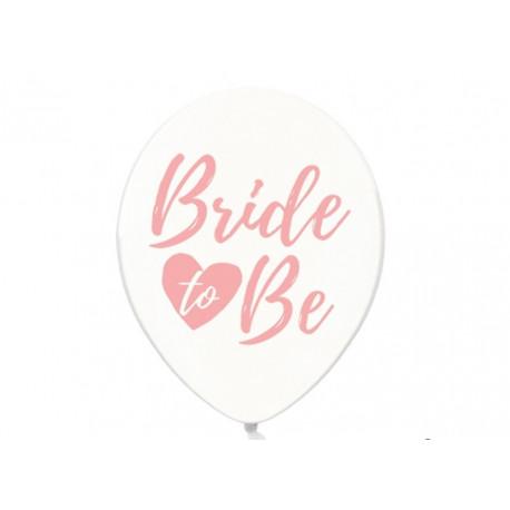 Biały balon bride to be