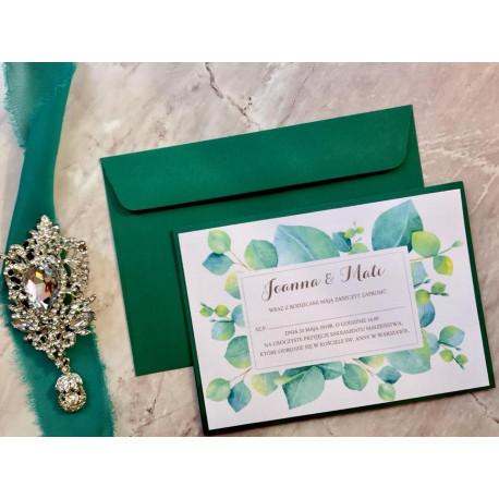 Zaproszenia Ślubne Eucaliptus