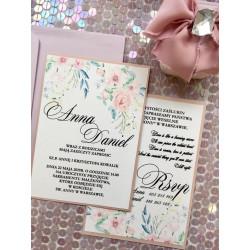 Zaproszenia Ślubne Pudrowe
