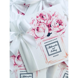 Zaproszenie ślubne Peony Flowers BEIGE
