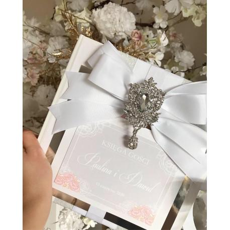 Luksusowe Księga Gości - Mirror DeLuxe z kryszałami