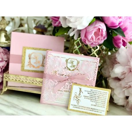 Zaproszenia Ślubne ze złotymi literami