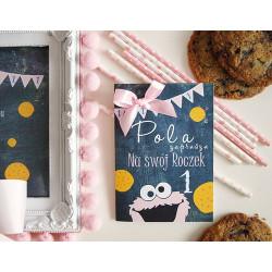 Cookie Monster Zaproszenia dla Dzieci